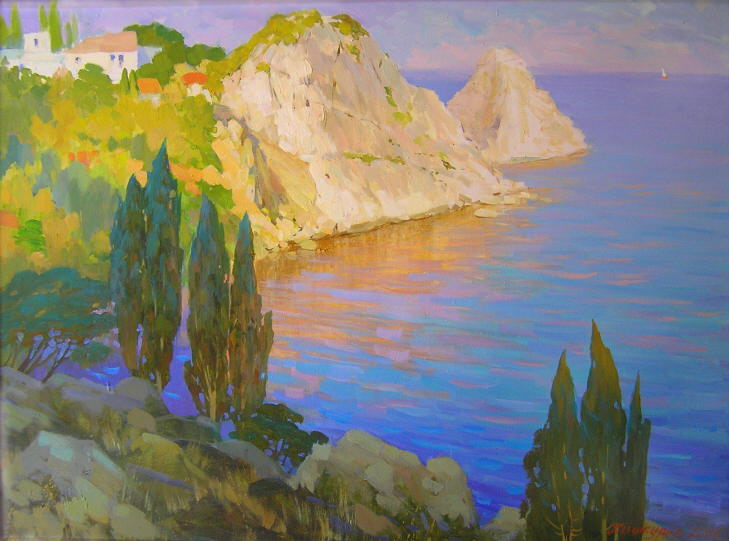 Картина симеиз морской пейзаж